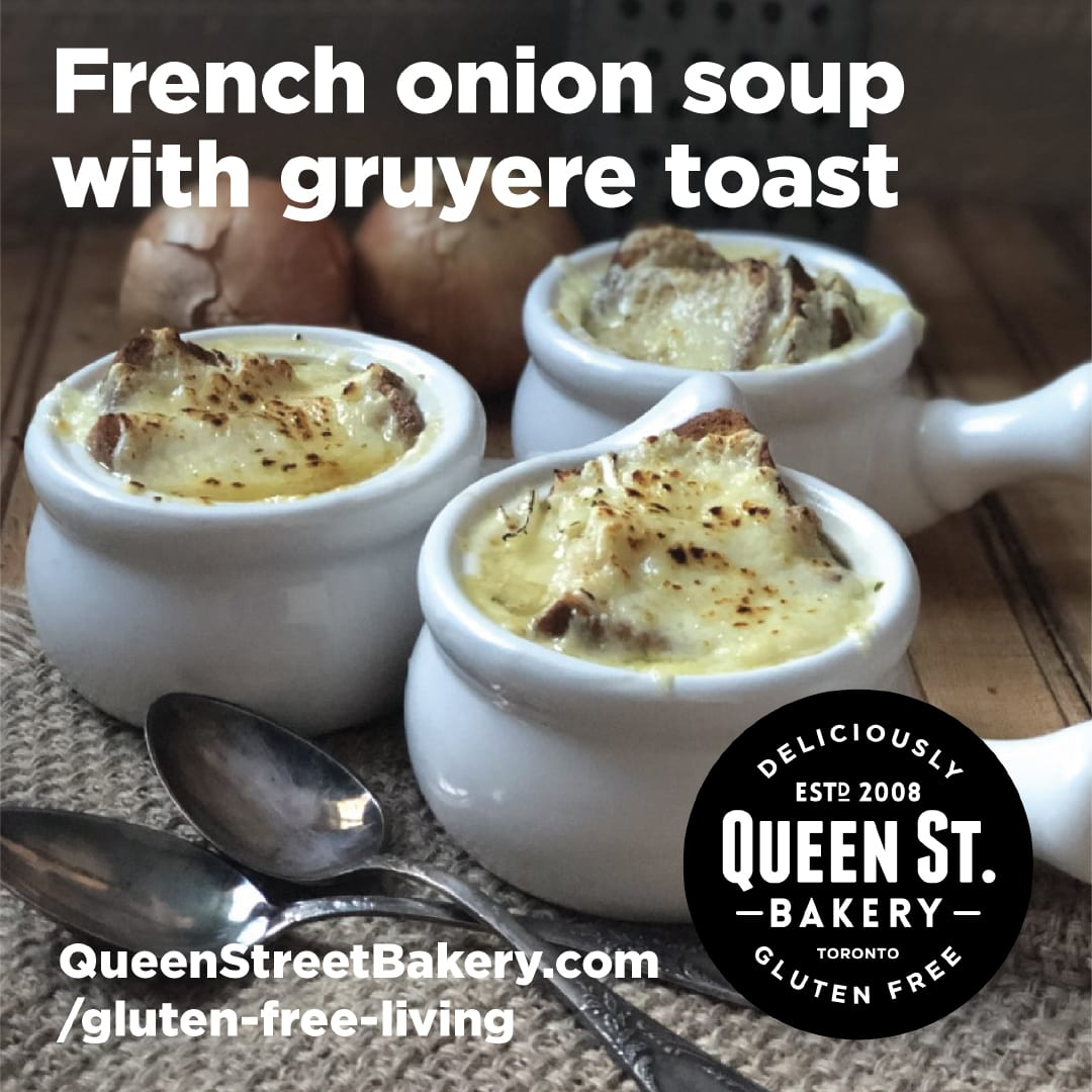 Queen Street Bakery classic french onion soup with gruyere toast