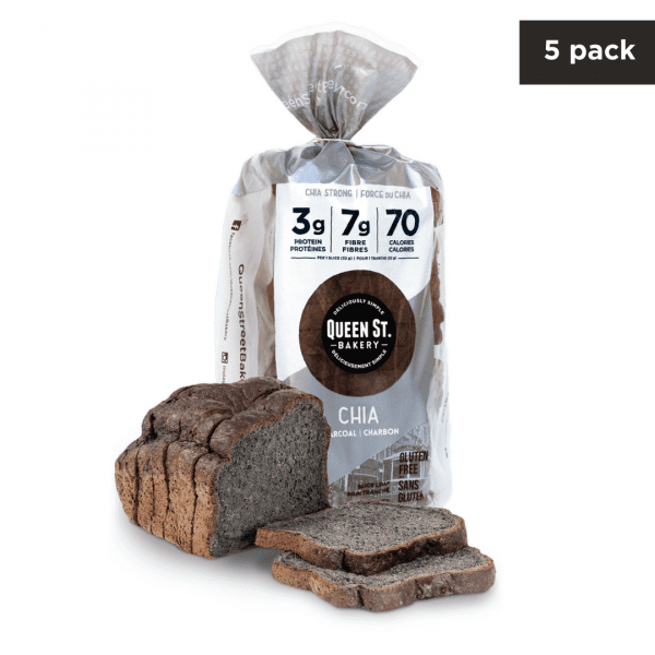 Chia Charcoal- Box of 5 Loaves (3 days only)