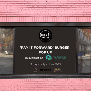 """Our """"Pay It Forward"""" Burger Pop Up"""